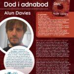 Poster efo gwybodaeth am Awdur y Mis Ałun Davies