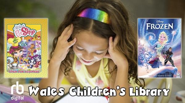 Child reading eComics