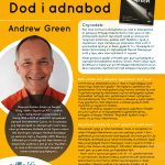 Poster efo gwybodaeth am Awdur y Mis Andrew Green