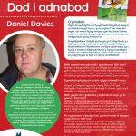 Poster efo gwybodaeth am Awdur y Mis Daniel Davies