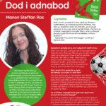 Poster efo gwybodaeth am Awdur y Mis Manon Steffan Ros