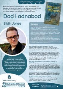 Poster Dod i Adnabod Awdur Elidir Jones